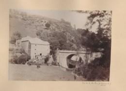 110420B - PHOTO ANCIENNE XIXème - 81 Pont De La Mouline Route De ST GERVAIS à MURAT SUR VEBRE - France