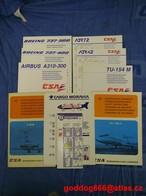 Fly Safety Instruction , CZECHOSLOVAKIA  Before 1989 , ČSA ,Cargo Moravia , Fischer , 10 Pcs. - Safety Cards