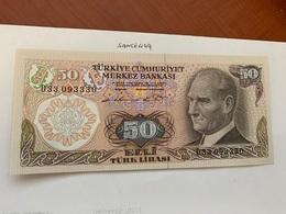 Turkey 50 Lira Banknote 1970 - Turquie