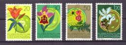 Liechtenstein 1970 - Oblitéré - Fleurs - Michel Nr. 521-524 Série Complète (lie954) - Liechtenstein