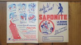 PROTEGE CAHIER  SAPONITE LA BONNE LESSIVE - Pulizia
