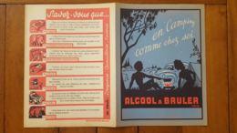PROTEGE CAHIER   ALCOOL A BRULER  EN CAMPING COMME CHEZ SOI - Pulizia