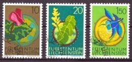 Liechtenstein 1971 - Oblitéré - Fleurs - Michel Nr. 539-540 542 (lie955) - Liechtenstein