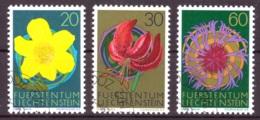 Liechtenstein 1972 - Oblitéré - Fleurs - Michel Nr. 560-562 (lie956) - Liechtenstein