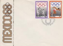 Enveloppe  FDC  1er  Jour  POLOGNE  Jeux  Olympiques  MEXICO   1968 - Estate 1968: Messico
