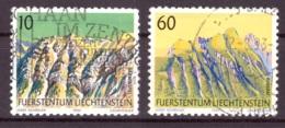 Liechtenstein 1990 - Oblitéré - Montagnes - Michel Nr. 1000 1002 (lie967) - Liechtenstein