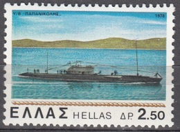 Hellas 1978 Michel 1334 Neuf * Cote (2009) 0.10 Euro Navire Sous-marin - Grèce