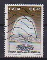 ITALIA  2002 ECCIDIO DI SANT'ANNA DI STAZZEMA SASS. 2638 USATO VF - 6. 1946-.. Republic