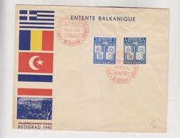 YUGOSLAVIA, BEOGRAD 1940 FDC Cover - Lettres & Documents