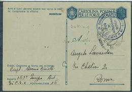 FRANCHIGIA PM 16 DIV. LEGNANO  163° GRUPPO ARTIGLIERIA Di  C D' A  X ROMA - War 1939-45