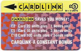 UK (Cardlink) - Jigsaw Design Red, 2CLKB - 4.000ex, Used - Ver. Königreich