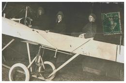 CARTE PHOTO AVIATION Les Jumeaux NAVARRE En 1914 Fête à Neuilly Sur Seine , Cp Signée André , Père Des Frères NAVARRE - ....-1914: Précurseurs