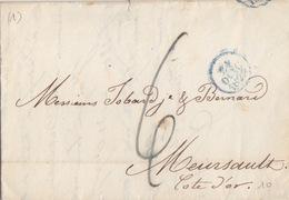 Lettre De Paris Cachet Dateur 24 Oct 1829 Pour Meursault, Taxe 6 Décimes - 1801-1848: Precursors XIX