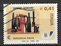 ITALIA  2003 EUROPALIA ITALIA 2003 SASS. 2706 USATO VF - 6. 1946-.. Republic