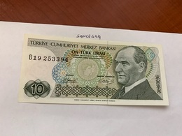 Turkey 10 Lira Banknote 1970  #1 - Turquie