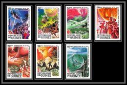 92750b Guinée Guinéa N° 633/637 PA 137/138 Jules Verne Ecrivain Writer Non Dentelé ** MNH Imperf - Guinea (1958-...)