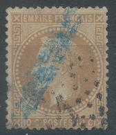 Lot N°55003   Variété/n°28A, Oblit étoile Chiffrée 1 De PARIS (Pl De La Bourse), Cachet Bleu étranger ?????? - 1863-1870 Napoléon III Lauré