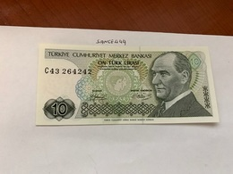 Turkey 10 Lira Banknote 1970 #2 - Turquie