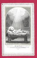 IMAGE PIEUSE/ CANIVET / DENTELLE ..édit. Chapron Prevel PL 8..NOËL..2 Scans - Images Religieuses