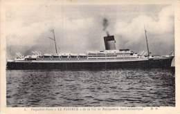 """PAQUEBOT Poste ( PTT ) Le """" PASTEUR """" ( Cie De Navigation Sud Atlantique ) CPA - Ship Kreuzfahrtschiff Cruiseschip - Paquebots"""