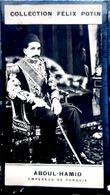 TURQUIE TURKEY ABDUL HAMID EMPEREUR PHOTO ORIGINALE ISSUE DE L'ALBUM POTIN CELEBRITES CONTEMPORAINES 7,5 X 4 CM - Félix Potin