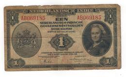Netherlands Indies.1  Gulden 1943, G. - Indes Neerlandesas
