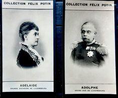 LUXEMBOURG ADOLPHE ET ADELAIDE 2 PHOTOS ORIGINALES ISSUES DE L'ALBUM POTIN CELEBRITES CONTEMPORAINES 7,5 X 4 CM - Félix Potin