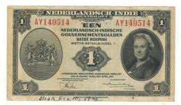 Netherlands Indies.1  Gulden 1943, Crisp VF. (graff.) - Indes Neerlandesas