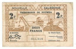 New Caledonia, NOUMEA. 2 Fr. 1943, VF. - Andere - Oceanië
