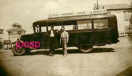 Photo : Béziers -Narbonne- La Nouvelle-Sigean , Photo D'une Carte Postale, 2 Scans - Automobiles