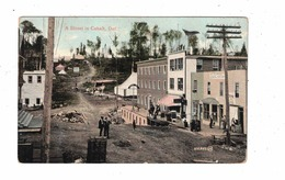 COBALT, Ontario, Canada, A Street & Stores, Prospect Hotel, Pre-1920 Postcard, Silver Mining Temiskaming County - Ontario