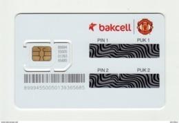 AZERBAIJAN Bakcell Manchester United GSM SIM MINT - Azerbaiyan