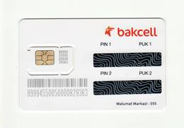 AZERBAIJAN Bakcell Gold GSM SIM MINT - Azerbaïjan
