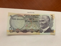 Turkey 5  Lira Banknote 1970 #3 - Turquie