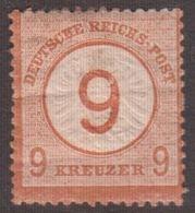 1874. DEUTSCHE REICHS-POST. Grossem Brustschild 9 / 9 GROSCHEN  (Michel 30) - JF136171 - Allemagne
