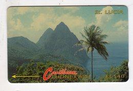 SAINTE LUCIE REF MV CARDS STL-3C Année 1991 EC$40 3CSLC - St. Lucia