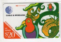 SAINTE LUCIE REF MV CARDS STL-286A Année 1999 US$20 286CSLA PARROT - St. Lucia