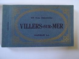 CPA 14 VILLERS-sur-MER Album 23 Vues Marque L.L Pas Courant Très Belles Animations TBE Manque Une - Villers Sur Mer