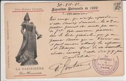 """""""La Parisienne"""" Paul Moreau Vauthier-Statue Disparue De L'entrée De L'expo Universelle De 1900.signée De Charles Fontane - Expositions"""
