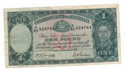 AUSTRALIA 1 POUND KING GEORGE VI Armitage-fairlane (1942) FINE - Vordezimale Regierungsausgaben 1913-1965