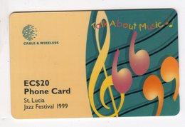 SAINTE LUCIE REF MV CARDS STL-288B Année 1999 EC$20 288CSLB Jazz Festival 1999 - St. Lucia