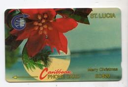 SAINTE LUCIE REF MV CARDS STL-5A Année 1991 EC$20 5CSLA Merry Christmas - St. Lucia
