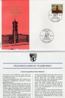 750 Jahre Berlin 1987 DDR 2778 FDC 5€ Spezial-Brief Rotes Rathaus SST Grundsteinlegung Architectur Cover Of Germany - Cartas
