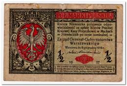POLAND,1/2 MARKI,1917,P.1 - Polonia