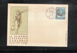 Yugoslavia / Jugoslawien 1972 Split World Bowling Championship Interesting Cover - Bowls