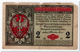 POLAND,2 MARKI,1917,P.3 - Polonia