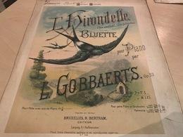 L'Hirondelle Bluette - Pour Piano Par L. Gobbaerts - Spartiti