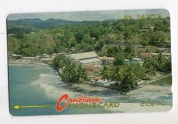SAINTE LUCIE REF MV CARDS STL-6A Année 1992 EC $10 6CSLA Coastline - St. Lucia