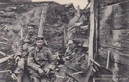 AK Schützengraben Durch Französische Granaten Zerstört - Deutsche Soldaten -  1. WK (48943) - War 1914-18