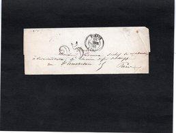 LSC 1852 - Cachet DIEPPE Et Taxe 25 - Marcophilie (Lettres)